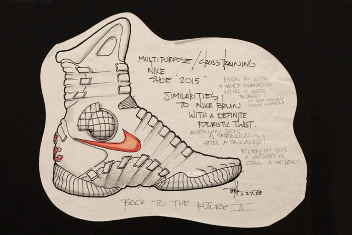 Tinker Hatfield's Sketches of the Nike Mag Released