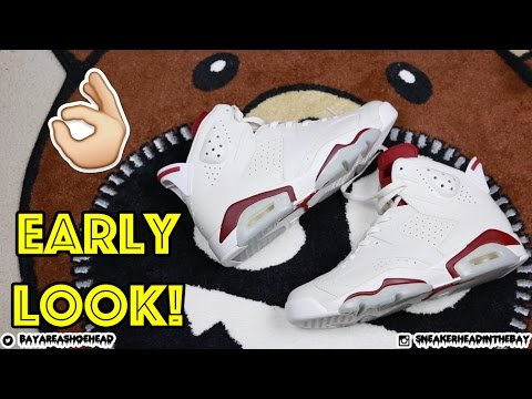 2015 AIR JORDAN MAROON 6 REVIEW + ON FEET! #KINDAEARLY