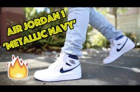 2016 AIR JORDAN 1 'METALLIC NAVY' REVIEW + ON FEET!!! #KINDAEARLY