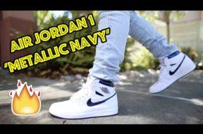 2016 AIR JORDAN 1 'METALLIC NAVY' REVIEW + ON FEET!!! #KINDAEARLY