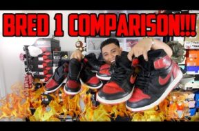 AIR JORDAN BRED 1 COMPARISON!!! (1985, 1994, 2001, 2013, 2016)
