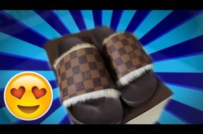 UNBOXING MY CUSTOM LOUIS VUITTON SLIDES!!! @XPLICIT_DEZIGNS *MUST WATCH*