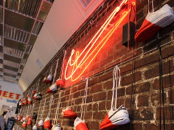 Neon Nike sign at The Cortez Experience curated by Sean Wotherspoon