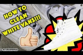 HOW TO CLEAN WHITE VANS TUTORIAL!!!