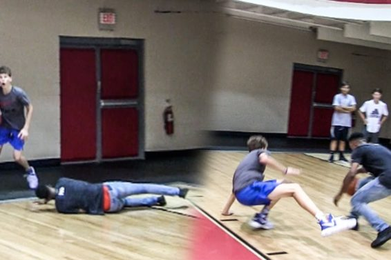 OMG 14-YEAR OLD WHITE KIDS MAKES HIM FALL!! HE BREAKS HIS ANKLES RIGHT AFTER! INSANE 1V1!
