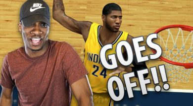 """Paul George GOES OFF!! 