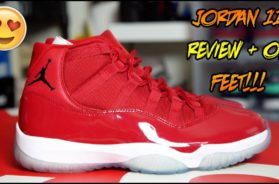 AIR JORDAN 'WIN LIKE 96/GYM RED' 11 REVIEW + ON FEET!!!