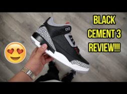 2018 AIR JORDAN 'BLACK CEMENT' 3 REVIEW!!! (EARLY LOOK)