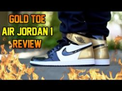 2018 AIR JORDAN 'GOLD TOE' 1 REVIEW + ON FEET!!!
