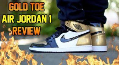 2018 AIR JORDAN 'GOLD TOE' 1 REVIEW + ON FEET!!!
