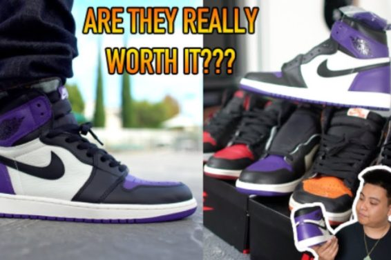 IS THE AIR JORDAN 1 'COURT PURPLE' REALLY WORTH IT? REVIEW + COMPARISON + ON FEET!!!