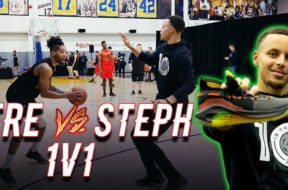 Tre Good GOES at Stephen Curry!!