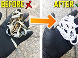 How To Make Shoe Laces White/Get Rid Of Stains Tutorial! (EASY)