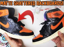 MATTE AIR JORDAN 1 'SHATTERED BACKBOARD 3.0″ TUTORIAL! (EASY)